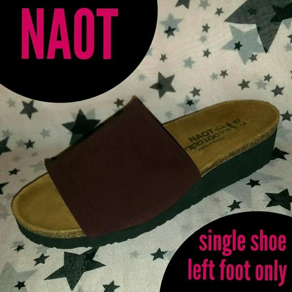 0e99c582738 Single Left Shoe NAOT ALANA Sandal 6 - 6.5 Amputee